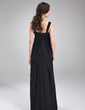 Empire Square Neckline Floor-Length Chiffon Chiffon Maternity Bridesmaid Dress With Ruffle (045004392)