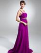 Çan/Prenses Kalp Kesimli Kuyruklu Chiffon Gece Elbisesi Ile Büzgü Boncuklama (017015321)