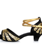 Women's Satin Heels Sandals Latin With Ankle Strap Dance Shoes (053054866)