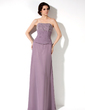 A-Line/Princess Sweetheart Floor-Length Chiffon Bridesmaid Dress With Ruffle Beading (007001789)