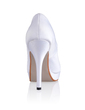 Women's Silk Like Satin Cone Heel Closed Toe Platform Pumps With Rhinestone (047026739)