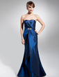 Trumpet/Mermaid Sweetheart Floor-Length Taffeta Evening Dress With Ruffle Beading (017014680)