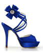 Satin Stiletto Heel Sandals Platform Slingbacks With Rhinestone shoes (087015200)