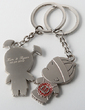 Personalized Lovely Girl&Boy Zinc Alloy Keychains (Set of 4) (051028895)