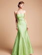 Trumpet/Mermaid Sweetheart Floor-Length Taffeta Bridesmaid Dress With Cascading Ruffles (007004211)