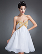 Empire Sweetheart Knee-Length Chiffon Homecoming Dress With Beading Sequins (022015092)