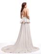 Çan/Prenses V Yaka Kısa Kuyruk Chiffon Mezuniyet Elbisesi (018006729)