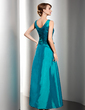 A-Line/Princess V-neck Ankle-Length Taffeta Mother of the Bride Dress With Ruffle Beading (008014533)