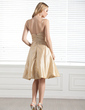A-Line/Princess Sweetheart Knee-Length Taffeta Bridesmaid Dress With Ruffle (007004169)