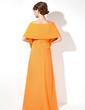 Kılıf Askısız Uzun Etekli Chiffon Nedime Elbisesi (007001016)