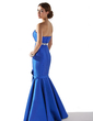 Trumpet/Mermaid Sweetheart Floor-Length Satin Evening Dress With Beading Flower(s) Bow(s) (017013797)