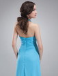 A-Line/Princess Halter Floor-Length Chiffon Bridesmaid Dress With Cascading Ruffles (007018775)