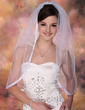 One-tier Elbow Bridal Veils With Ribbon Edge (006020340)