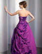 Ball-Gown Sweetheart Floor-Length Taffeta Quinceanera Dress With Embroidered Beading Sequins Cascading Ruffles (021014761)