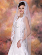 One-tier Waltz Bridal Veils With Lace Applique Edge (006005323)