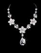 Flower Shaped Alloy/Rhinestones Women's Jewelry Sets (011028387)