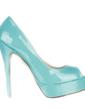 Lackskinn Stilettklack Sandaler Plattform Peep Toe skor (085026589)