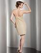 Kılıf Tek-Omuzlu Kısa/Mini Chiffon Mezunlar Gecesi Elbisesi Ile Büzgü (022014503)