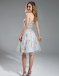 A-Line/Princess Sweetheart Knee-Length Tulle Homecoming Dress With Ruffle Appliques Lace (022019601)