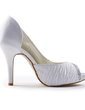 Women's Satin Cone Heel Peep Toe Platform Sandals With Beading Rhinestone (047005326)