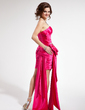 Sheath/Column Sweetheart Asymmetrical Charmeuse Prom Dress With Ruffle Beading Appliques Lace (018019120)