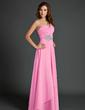 Çan/Prenses Tek-Omuzlu Uzun Etekli Chiffon Tatil Elbisesi Ile Büzgü Boncuklama (020015525)