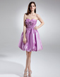 A-Line/Princess Sweetheart Knee-Length Taffeta Homecoming Dress With Ruffle (022015740)
