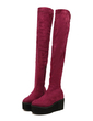 Suede Wedge Heel Over The Knee Boots shoes (088056976)