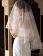 One-tier Waltz Bridal Veils With Cut Edge (006036634)