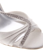 Women's Satin Stiletto Heel Peep Toe Pumps Sandals With Rhinestone (047039110)