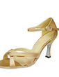 Women's Satin Heels Sandals Latin Ballroom Dance Shoes (053013593)