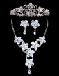 Flower Shaped Alloy/Crystal Ladies' Jewelry Sets (011028501)