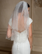 Two-tier Elbow Bridal Veils With Pearl Trim Edge (006024467)