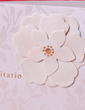 Floral Style Side Fold Invitation Cards (Set of 50) (114033290)