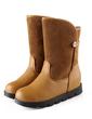 Süet Suni deri Düz Topuk Ayak bileği Boots ayakkabı (088056299)