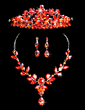 Gorgeous Alloy/Rhinestones Ladies' Jewelry Sets (011028536)