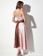 Çan/Prenses Askısız Uzun Etekli Charmeuse Nedime Elbisesi Ile Kuşaklar (007001915)