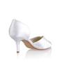 Women's Silk Like Satin Cone Heel Closed Toe Pumps Sandals (047026743)