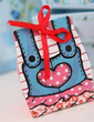 Cute Overalls Favor Boxes With Ribbons (Set of 6 Pairs) (050011369)