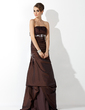 Trumpet/Mermaid Strapless Floor-Length Taffeta Bridesmaid Dress With Ruffle Beading (007001034)