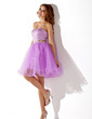 A-Line/Princess Sweetheart Short/Mini Tulle Homecoming Dress With Beading (022011134)
