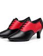 Kadın Gerçek Deri Topuk Swing Ile Bağcıklı Dans Ayakkabıları (053057394)