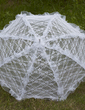 Elegant Lace Wedding Umbrellas With Embroidery (124036964)