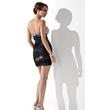 Sheath/Column Sweetheart Short/Mini Tulle Cocktail Dress With Ruffle Beading (016021196)