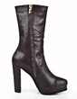 Real Leather Chunky Heel Ankle Boots shoes (088055798)