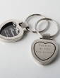 Personalized Heart Shaped Zinc Alloy Keychains/Photo Frame (Set of 4) (051028937)