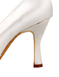 Women's Satin Stiletto Heel Closed Toe Pumps (047010805)