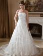 Balo Elbisesi Askısız Şapel Kuyruk Satin Lace Gelinlik Ile Boncuklama (002012133)