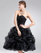 A-Line/Princess Sweetheart Knee-Length Organza Homecoming Dress With Ruffle (022021295)