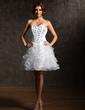 Linia A/Księżniczka Kochanie Do Kolan Organza Satin Sukienka na Zjazd Absolwentów (022007289)